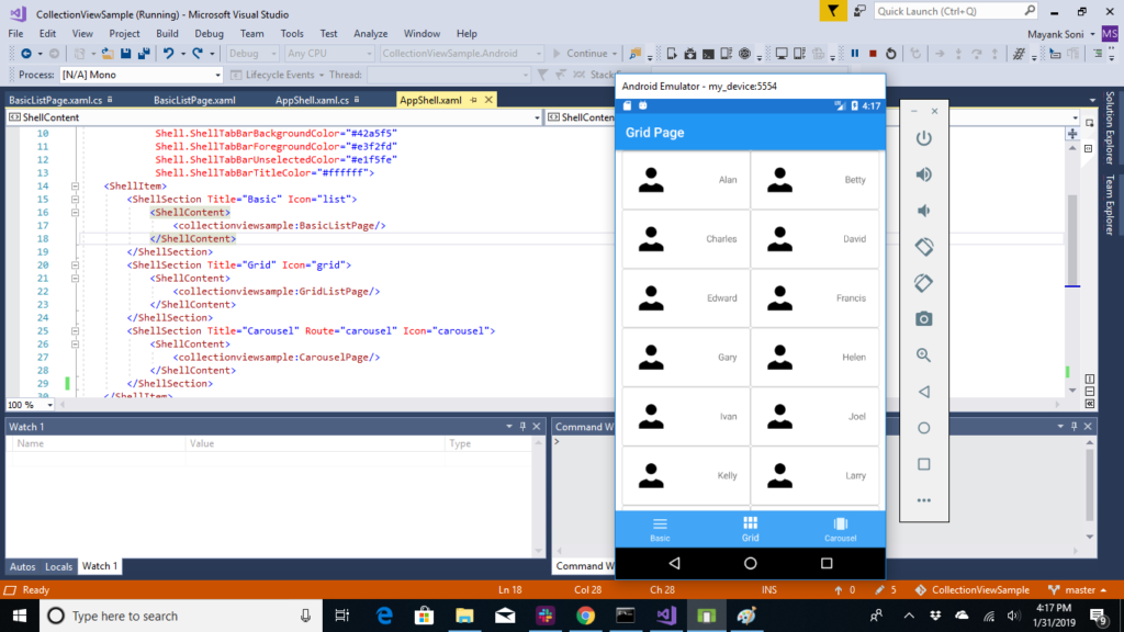 Introduction to Collection View and Carousel View in xamarin forms